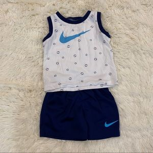 Nike 12 month Two Piece Outfit Baseball Print